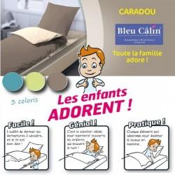 Kit couchage complet CARADOU Bleu Câlin