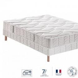 Pack Bultex matelas INOVO 910 + Sommier confort ferme 140 x 190 cm
