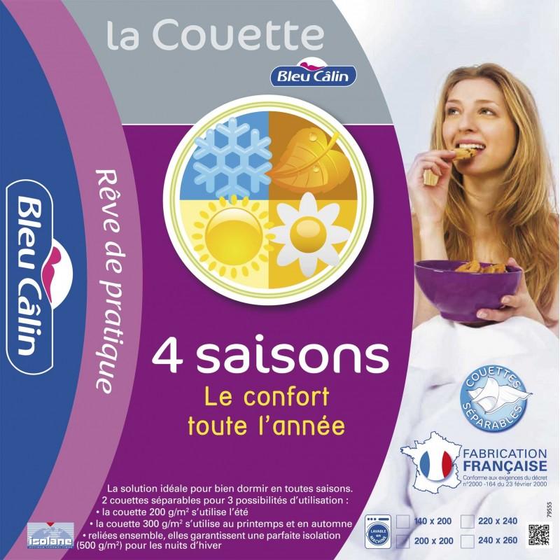 Couette 4 SAISONS Bleu Câlin